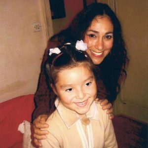 With her daughter Ornella