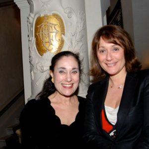 With the journalist Daniela Lumbroso
