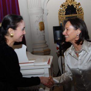 With Ségolène Royal