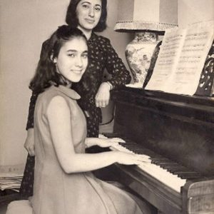 Myriam and her mother after winning the 1st price of piano at the Conservatoire of Paris